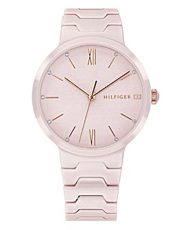 Tommy Hilfiger Ceramic Pink Ladies Watch
