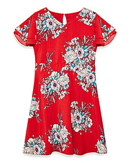 Yumi Girl Japanese Blossom Print Dress