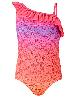 Accessorize Ombre Flower Lace Swimsuit