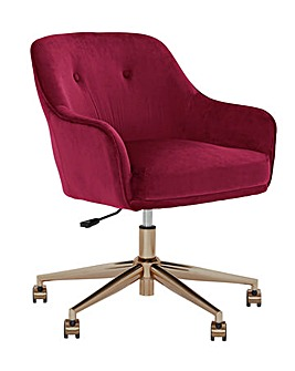 Habitat Marco Office Chair - Burgundy