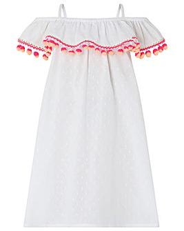 Accessorize Bardot Pom Pom Dress
