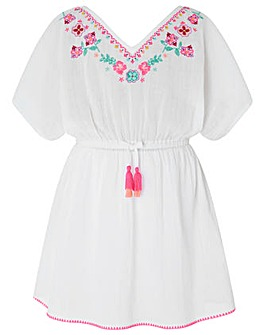 Accessorize Mexican Embroidered Kaftan