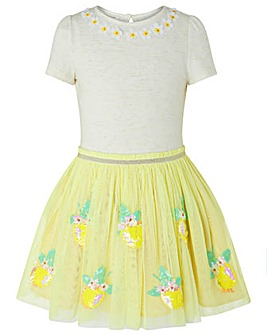Monsoon Disco Lemon Dress