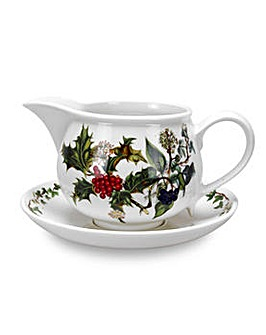 Holly & Ivy Gravy Boat and Stand