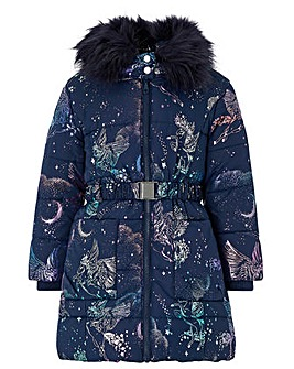 Monsoon Luna Foil Padded Coat
