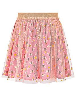Monsoon Buzz Bee Foil Mesh Skirt