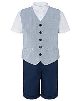 Monsoon Oliver Stripe 3Pc Waistcoat Set