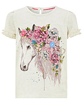 Monsoon Anoushka Horse T-Shirt