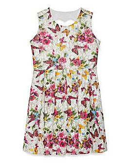 Yumi Girl Butterfly Printed Lace Dress