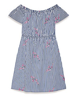 Yumi Girl Bardot Stripe Dress