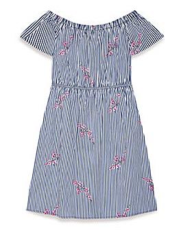 Yumi Girl Bardot Stripe Dress