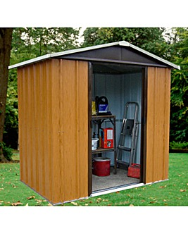 Yardmaster 6x4ft Woodgrain-Effect Shed
