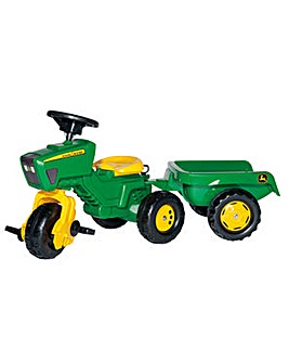 John Deere Trio Trac with Trailer