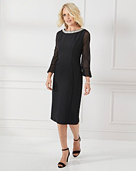 Nightingales Diamonte Trim Dress