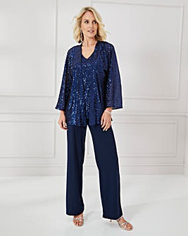 Nightingales 3 Piece Sequin Trouser Set