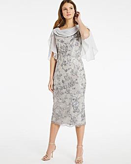 Nightingales Cowl Embellished Dress