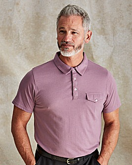 Premier Man Purple Tailored Collar Polo Shirt Regular