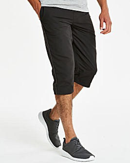 Black Leisure 3/4 Pants