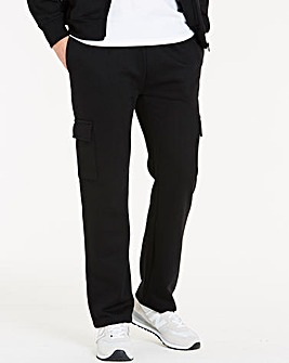 Black Cargo Trousers 29in