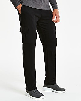 Capsule Black Cargo Trousers 31in