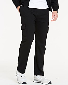 Black Cargo Trousers 31in