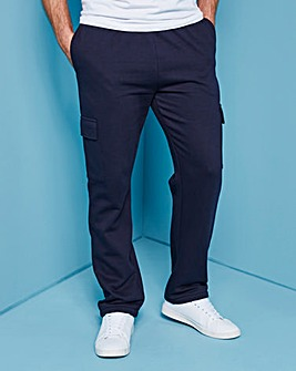 Navy Cargo Trousers 27in
