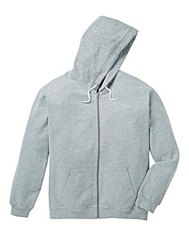 Capsule Grey Full Zip Hooded Sweatshirt Long