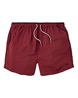 Burgundy Taped Swimshorts