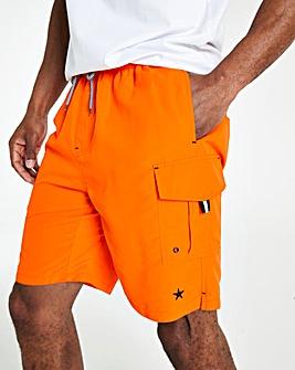 Orange Long Swimshorts