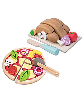 Le Toy Van Roast Chicken & Pizza Set