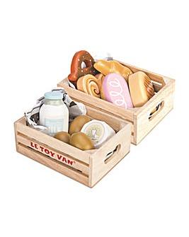 Le Toy Van Bakers Basket Bread, Eggs & Dairy Crate