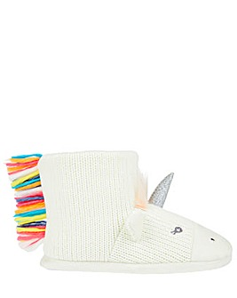Accessorize Rainbow Unicorn Slipper Boot