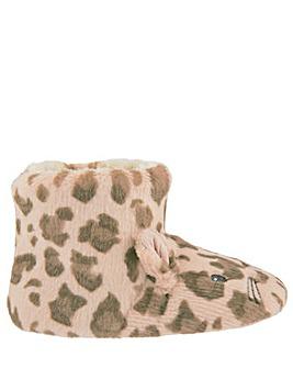 Monsoon Leona Leopard Slipper Boot