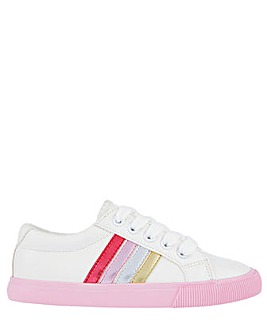 Monsoon Maci Pink Stripe Trainer