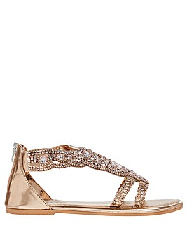 Monsoon Valencia Beaded Scallop Sandal
