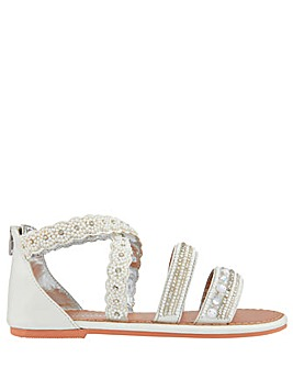 Monsoon Sicily Cross Strap Pearl Sandal