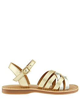 Accessorize Metallic Leather Sandal