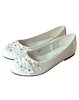 Sparkle Club Ivory Satin Shoes