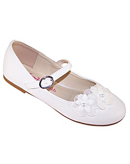 Sparkle Club White Ballerina Shoes