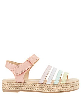 Monsoon Rainbow Espadrille Sandal
