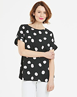Pink Spot Drop Sleeve Top