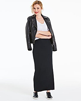 Stretch Jersey Maxi Tube Skirt