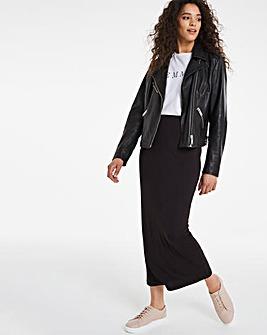 Stretch Jersey Maxi Tube Skirt