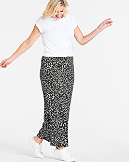 Spot Stretch Jersey Maxi Tube Skirt