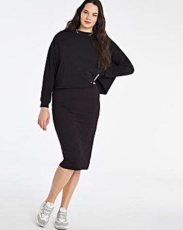 Stretch Jersey Midi Tube Skirt