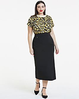 Tailored Maxi Pencil Skirt