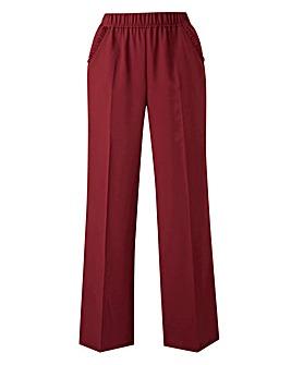 Basic Oxblood Wide Leg Workwear Trousers