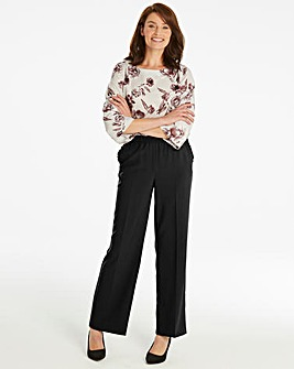 Basic Black Wide Leg Workwear Trousers
