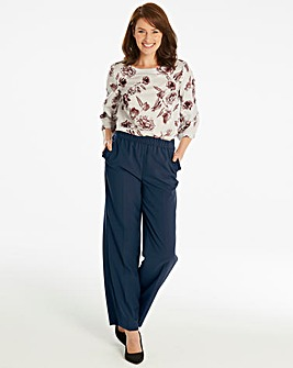 Basic Wide Leg Workwear Trousers