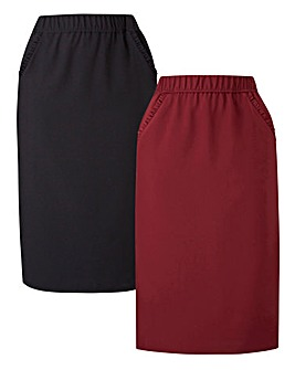 Pack of 2 Workwear Pencil Skirts